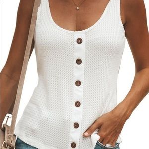 VICI VICI New England Button Down Knit Tank